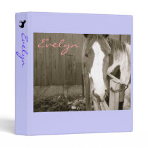 Sweet Girl Horse Binder