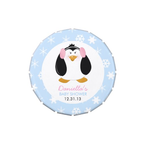 Sweet Girl Penguin Custom Mint Tin Jelly Belly Candy Tin