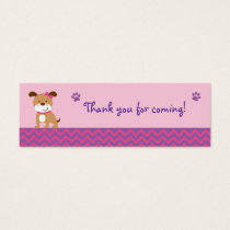 Sweet Girl Puppy Dog Favor Gift Tags