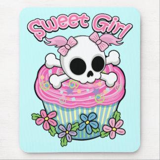 Sweet Girl Skull Mouse Pad
