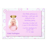 Sweet Girl's Crown Birthday Party Invitation