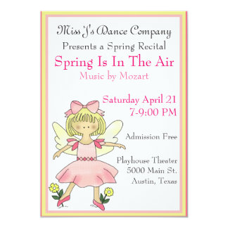 Sweet Girl's Dance Recital Invitation