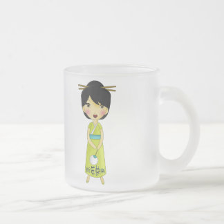 Sweet Girls New Years Wish Frosted Glass Coffee Mug