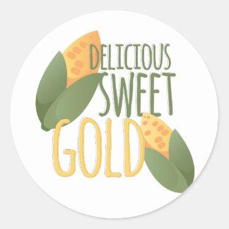 Sweet Gold Classic Round Sticker