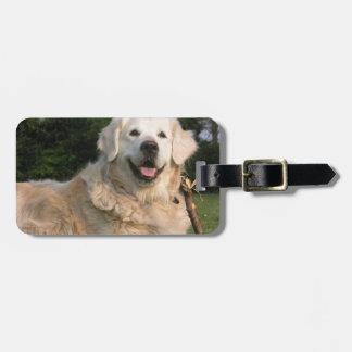 Sweet Golden Retriever Luggage Tag