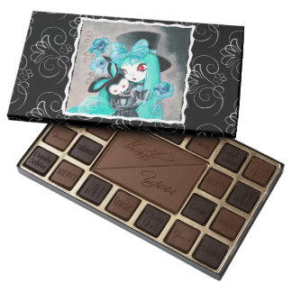 Sweet Gothic Girl With Bunny Assorted Chocolates