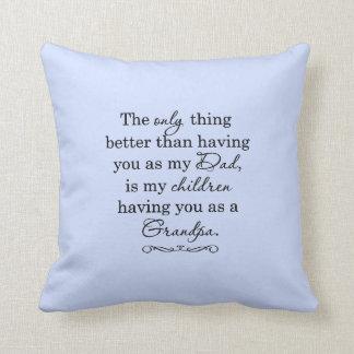 Sweet Grandfather design Throw Pillow