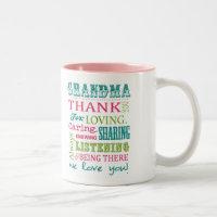 Sweet Grandmother design Two-Tone Coffee Mug