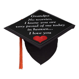Sweet Grandpa Orphan Child Love Graduation Topper