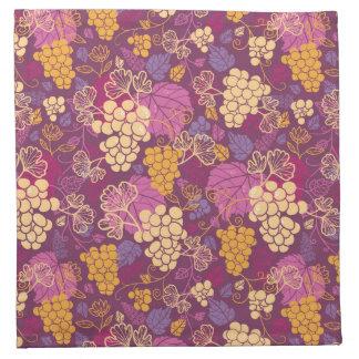 Sweet grape vines pattern background napkin