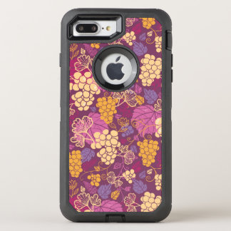 Sweet grape vines pattern background OtterBox defender iPhone 8 plus/7 plus case