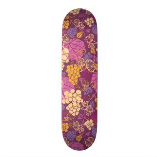 Sweet grape vines pattern background skateboard deck