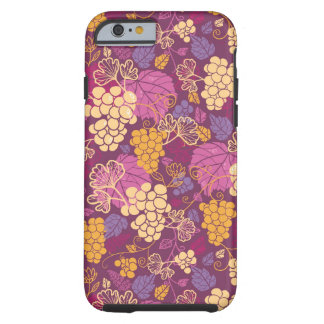 Sweet grape vines pattern background tough iPhone 6 case