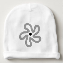 Sweet Gray Dancing Flower Abstract Baby Beanie