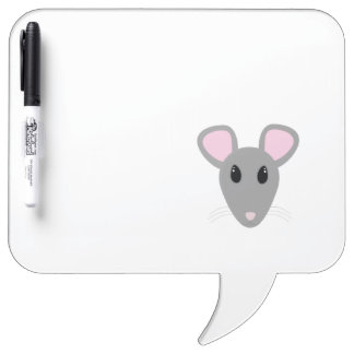 sweet gray mouse face dry erase boards
