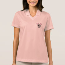 sweet gray mouse face polo shirt