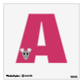 sweet gray mouse face wall decal
