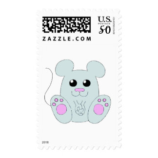 Sweet Gray Mouse Postage
