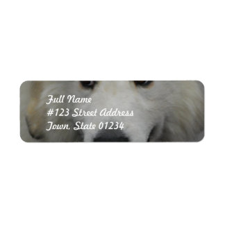 Sweet Great Pyrenees Mailing Labels