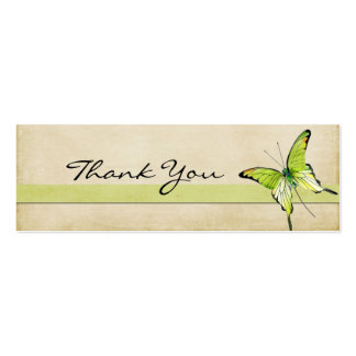 Sweet Green Butterfly Thank You Note Business Cards