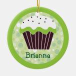 Sweet Green Cupcake Ornament