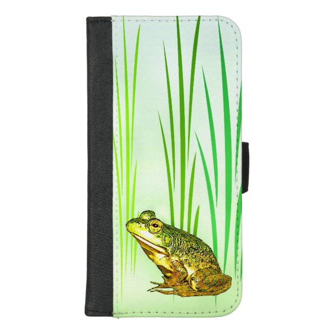 Sweet Green Frog iPhone 8/7 Plus Wallet Case