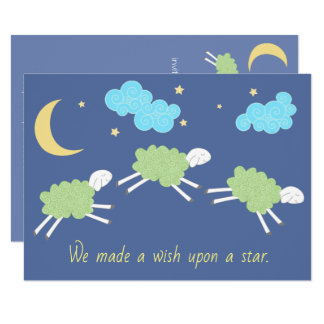 Sweet Green Gender Neutral Lullaby Baby Shower Card