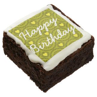 Sweet Green Happy Birthday Brownies (One Dozen)