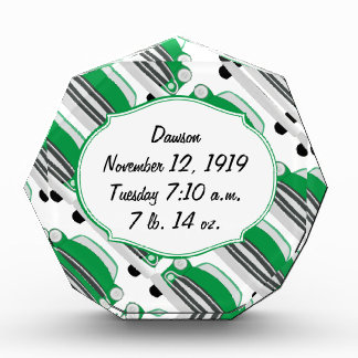 Sweet Green Retro Car Baby Shower Gifts Award