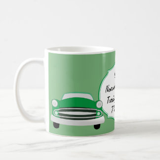 Sweet Green Retro Car Baby Shower Gifts Coffee Mug