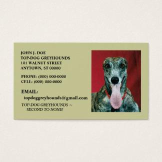 SWEET GREYHOUND ADOPTION DOG PET BUSINESS CARDS