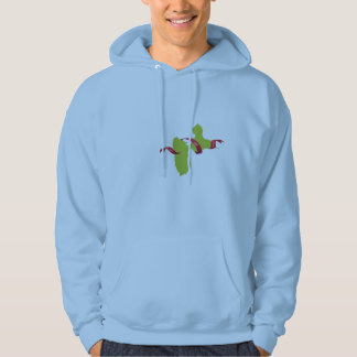 sweet Guadeloupe coils and peace Hoody