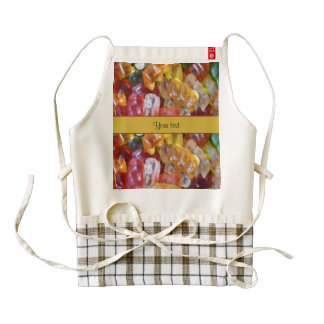 Sweet Gummi Bears Zazzle HEART Apron