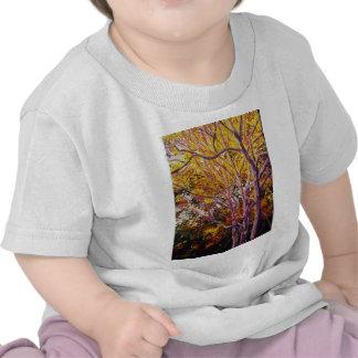 Sweet Gums at Sunset Painting Tee Shirt