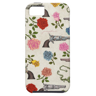 Sweet Guns and Roses iPhone 5 Cases
