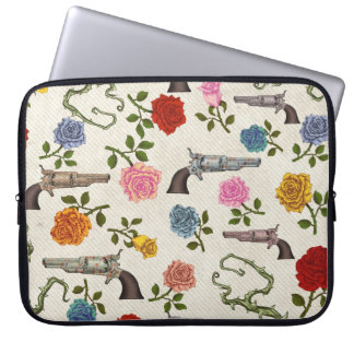 Sweet Guns and Roses Laptop Sleeve