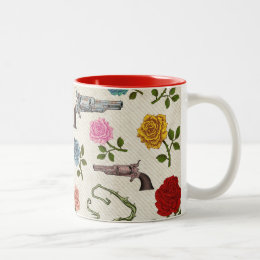 Sweet Guns and Roses Two-Tone Coffee Mug