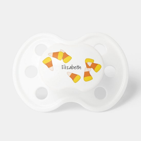 sweet Halloween candy corn pieces Pacifier