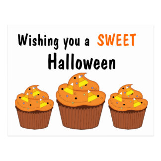 Sweet Halloween Cupcakes Postcard
