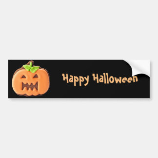 Sweet Halloween orange pumpkin Bumper Sticker