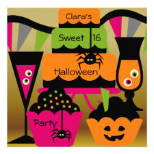 Sweet Halloween Party Invitations