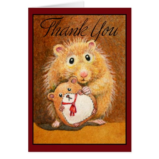 Sweet Hamster Thank You Card