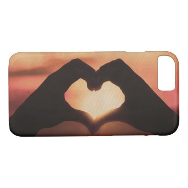 Valentines Themed Sweet Hand Heart Love iPhone 8/7 Case