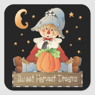 Sweet Harvest Dreams scarecrow sticker