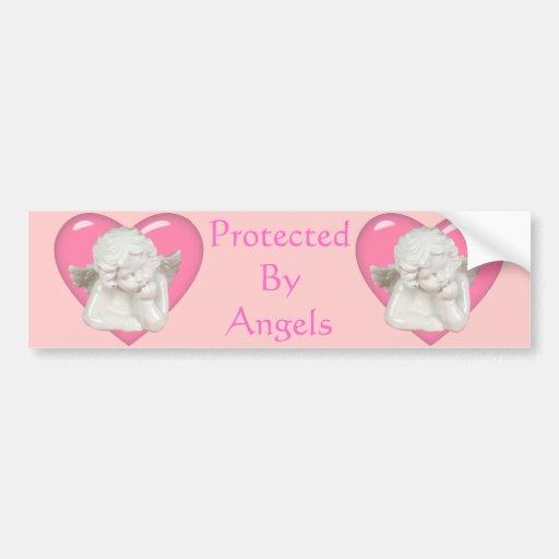Sweet Heart 'Baby Angel' Design Bumper Sticker