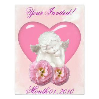 Sweet Heart 'Baby Angel' Design Personalized Announcement
