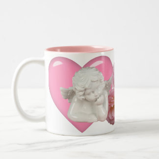 Sweet Heart 'Baby Angel' Design Two-Tone Coffee Mug