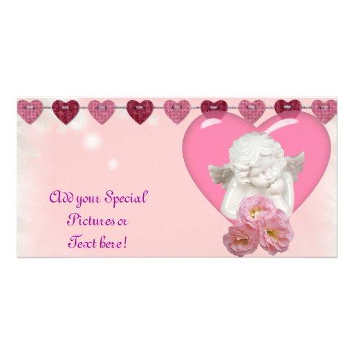 Sweet Heart 'Baby Angel' Design Photo Card
