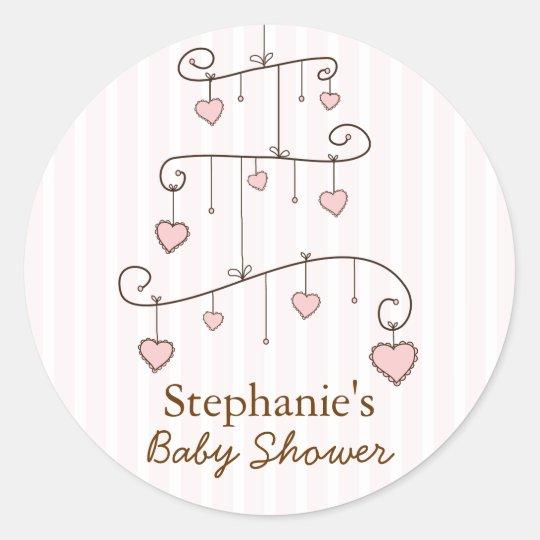 Sweet Heart  Baby Girl Mobile Baby Shower Sticker