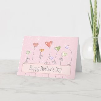 Sweet heart balloons happy mothers day card zazzle_card